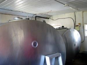 giant tanks where milk is stored